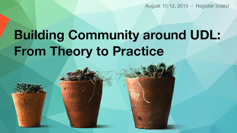 Building Community around UDL: From Theory to Practice