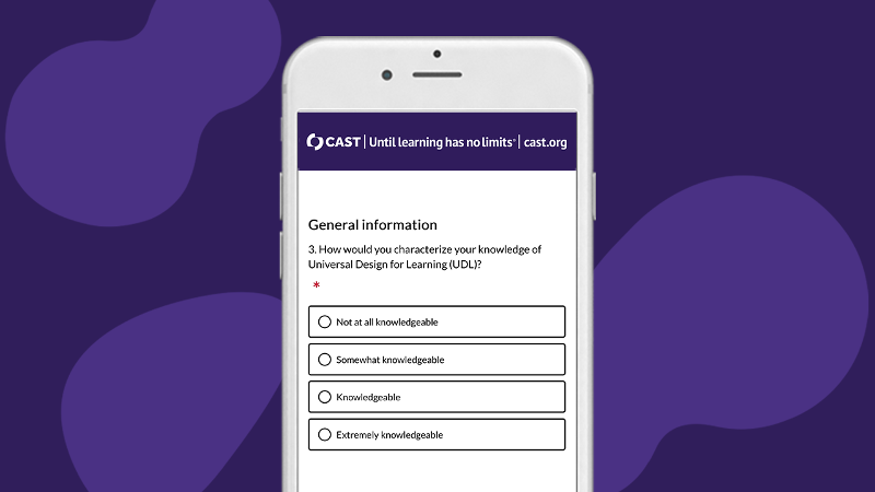 Screenshot of the Transition to Remote Learning survey on a cell phone