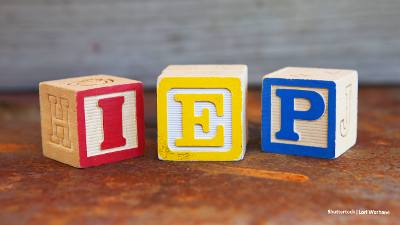 Children's alphabet blocks spelling out the letters