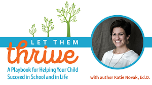 Let Them Thrive cover with photo of Katie Novak