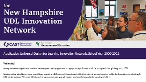 Screenshot of the 2020-2021 NH UDL Innovation Network application