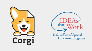 Corgi logo and OSEP logo: IDEAs that work