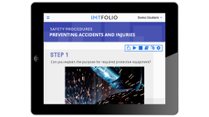 Screenshot of the upcoming IMTfolio on a tablet display