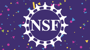 NSF logo surrounded by confetti