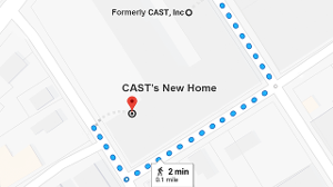 Map of CAST's old address and new address (just around the corner)